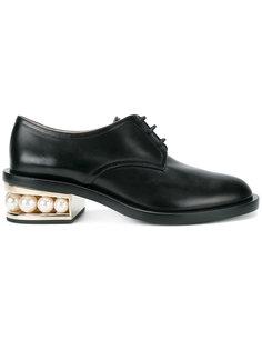 туфли Дерби Casati с искусственным жемчугом Nicholas Kirkwood
