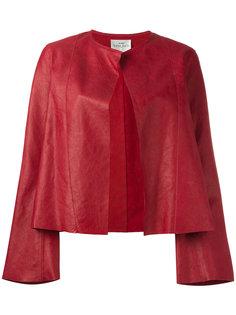 открытая кожаная куртка без воротника Forte Forte