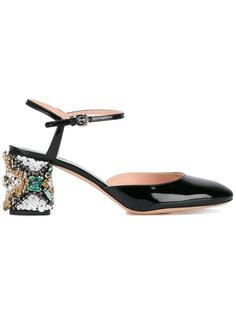 туфли с декорированными каблуками Rochas