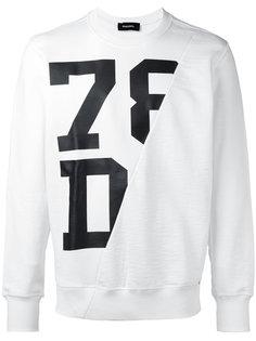 diagonal panel sweatshirt Diesel