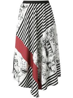 асимметричная юбка с принтом IM Isola Marras