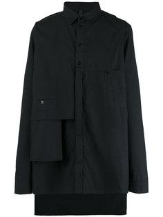concealed fastening asymmetric shirt Barbara I Gongini