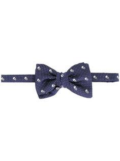галстук-бабочка с черепами Alexander McQueen