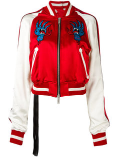 куртка-бомбер с вышивкой Unravel Project