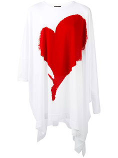 футболка с принтом сердца  Vivienne Westwood