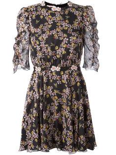 мини-платье с узором из цветов и пчел Giamba