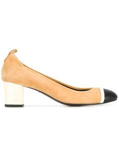 туфли-лодочки на наборном каблуке Lanvin