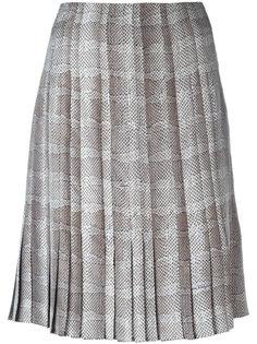 плиссированная юбка с узором Salvatore Ferragamo