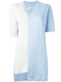 футболка дизайна колор-блок Maison Margiela