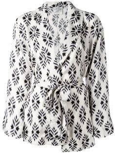 шелковый пиджак с поясом Forte Forte