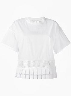 футболка с плиссировкой Capucci