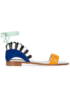 сандалии со шнуровкой Paula Cademartori