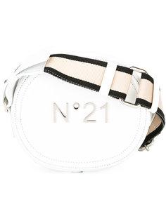 круглая сумка с бляшкой с логотипом Nº21