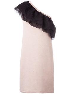 асимметричное платье с рюшами Nº21