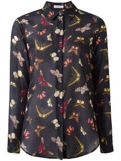 прозрачная рубашка с принтом бабочек Equipment