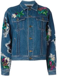 джинсовая куртка с заплатками Night Market