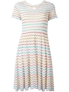 расклешенное платье с зигзагообразным узором Marc Jacobs