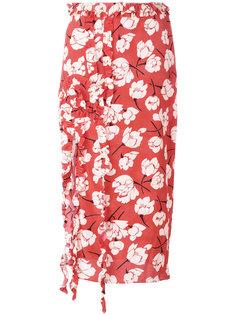 юбка с рюшами Rochas