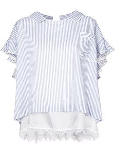 двухслойная полосатая блузка  Sacai