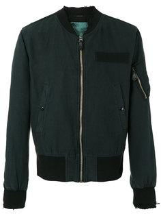 frayed cuffs bomber jacket R13