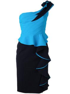 платье на одно плечо с рюшами Capucci