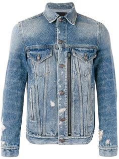 zipped front denim jacket R13