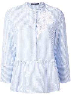 рубашка с цветочной вышивкой Luisa Cerano