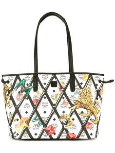 сумка-тоут с принтом-логотипом MCM