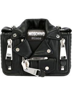 сумка в виде байкерской куртки Moschino
