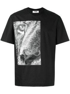 футболка с принтом льва MSGM