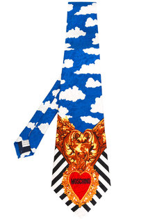 cloud heart striped tie Moschino Vintage