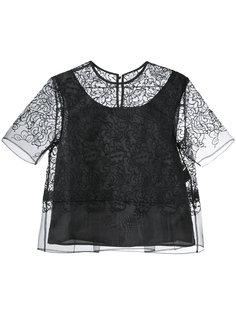 многослойная прозрачная блузка Taro Horiuchi
