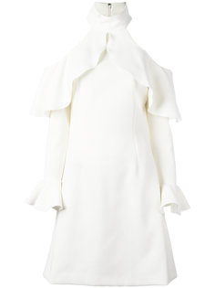 платье с плиссированным подолом Elie Saab