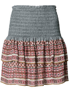 printed mini ruffled skirt Veronica Beard