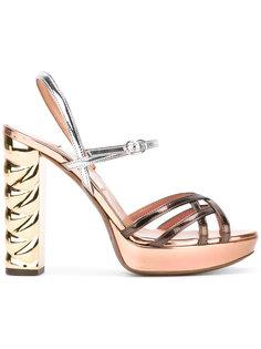 босоножки на контрастном каблуке LAutre Chose