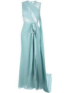длинное платье с кружевной отделкой Elie Saab