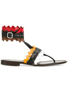 geometric sandals Prada Vintage