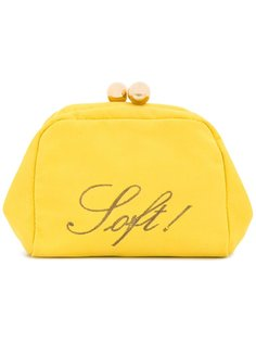 Soft embroidered clutch Moschino Vintage