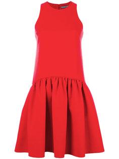 плиссированное расклешенное платье  Alexander McQueen