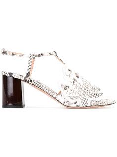 босоножки на низких каблуках Rochas