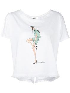 футболка с принтом doll Emporio Armani