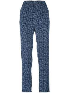 printed straight trousers Woolrich