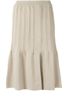pleated A line skirt Egrey