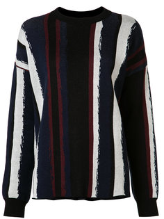 striped round neck jumper Baja East
