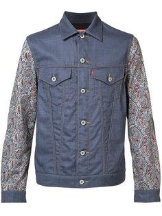 printed sleeves denim jacket  Junya Watanabe Comme Des Garçons