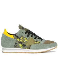 кроссовки с камуфляжным принтом Tropez  Philippe Model