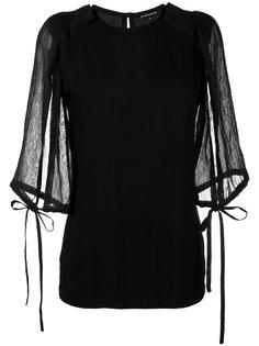 блузка с завязками Ann Demeulemeester