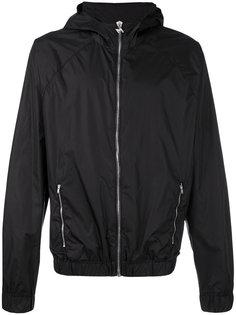 куртка с капюшоном и принтом MSGM