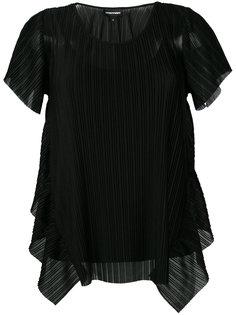 плиссированная блузка Emporio Armani