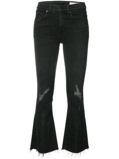 укороченные расклешенные брюки Rag & Bone /Jean